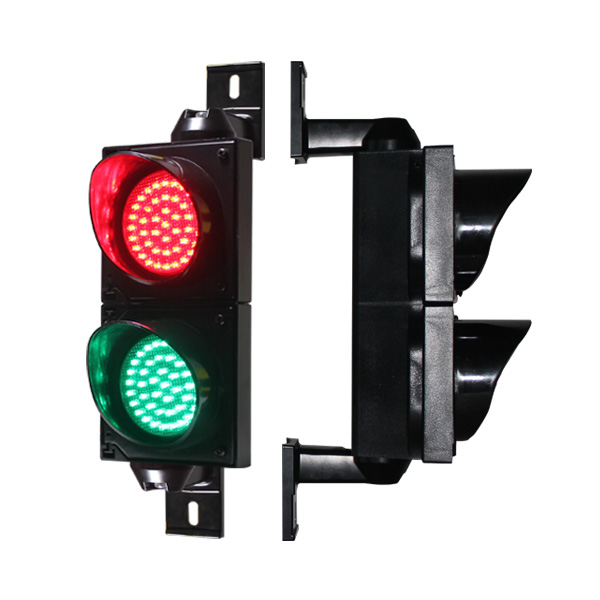Hot Sales 100mm Traffic Light With 2 Aspect For Parking