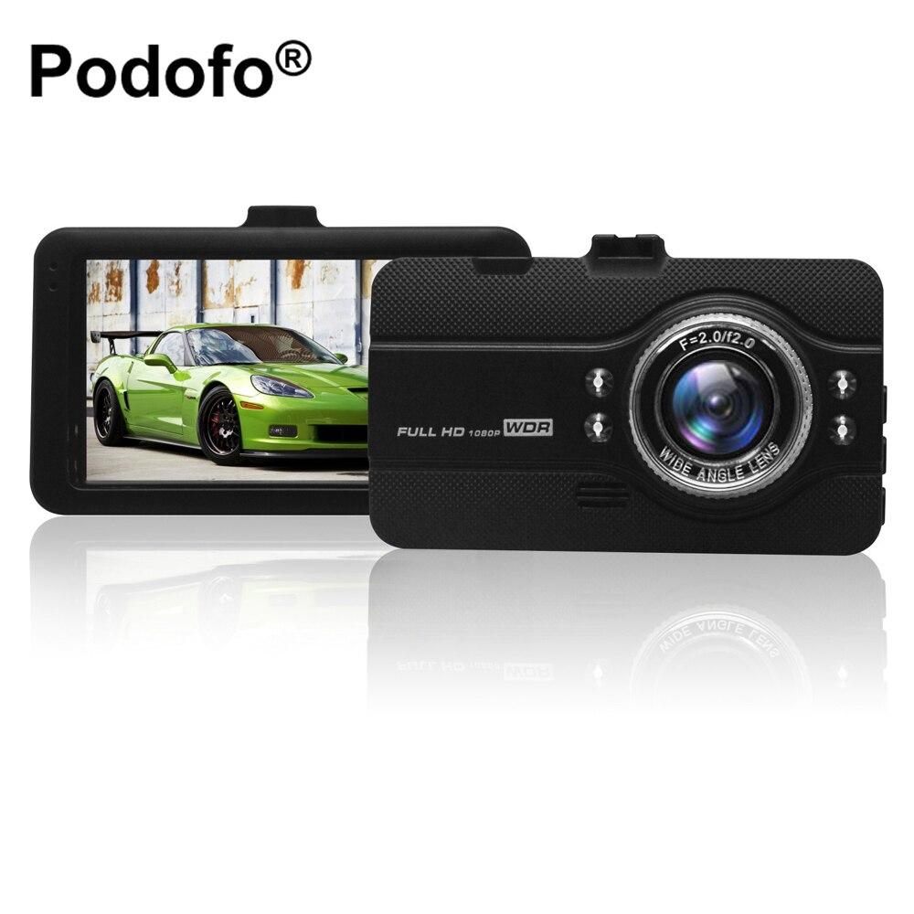 Original Podofo Dashcam Video Recorder Registrator Car Camera DVRs FH07 Full HD 1080P WDR G-Sensor Night Vision Dash Cam Dvr Car