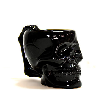 Gothic Skull coffee cup super cool Black Skull skull cup cup personality cups Creative Gift Mug