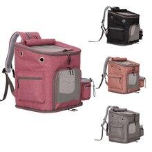 Pet Cat Outdoor Handbag Travel Carrier Packbag Portable Zipper Mesh Backpack Breathable Dog Bag 4 Colors Pink Carriers