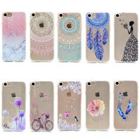 Transparent Phone Cases For Apple iPhone 6 Plus 6S Plus Case Silicone Fresh Slim Soft Back Cover For Apple Butterfly Girl Fundas