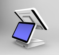 15 inch all in one touch screen dual screen pos system with