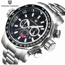 цены PAGANI DESIGN Sports Luxury Watch Waterproof Calendar Chronograph Quartz Multifunction Watch Military Quartz Stainless Steel