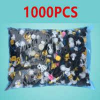 1000PCS Auto Door bumper Mixed car fastener Vehicle Car Bumper Clips Retainer Rivet audio install tools parts stickers