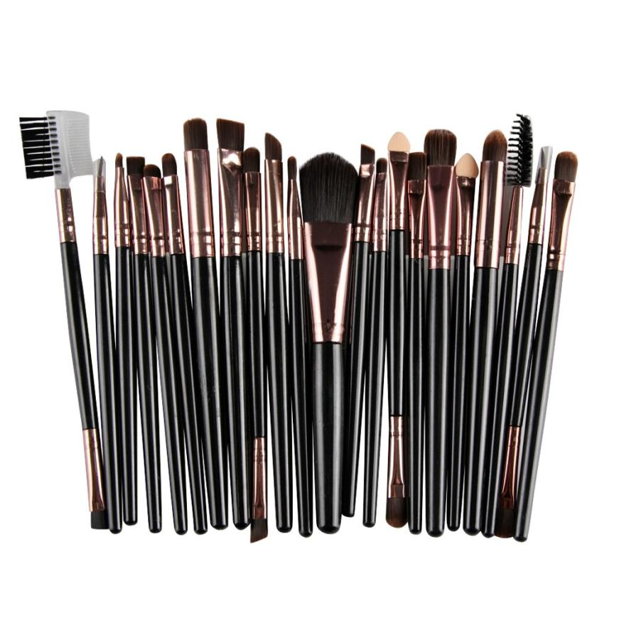 New design Professional 22Pcs/Set Makeup Brush Tools Make-up Toiletry Kit Wool Make Up Brush Set Tools Products For Wome 2017 o1 147 pcs portable professional watch repair tool kit set solid hammer spring bar remover watchmaker tools watch adjustment