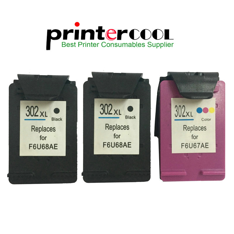 einkshop 302XL Remanufactured Ink Cartridge Replacement for HP 302 xl Deskjet 2130 2135 1110 3630 3632 Officejet 3830 3834 4650