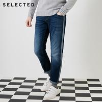 ZXJ2.3 избранные слейды зимние ленты декоративные средняя талия прямой цилиндр мужские джинсы S | 418432519