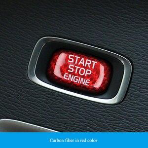 Image 4 - Car Engine Start Button Carbon Fiber Sticker Cover Stop Swtich Key Decor Car Styling For Volvo V40 V60 S60 XC60 S80 V50 V70 XC70