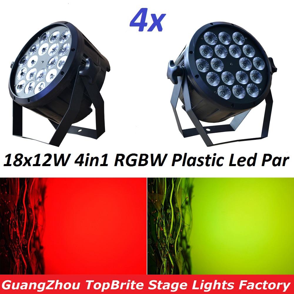 4xLot Good Quality Led Par Light Quad 18x12W 4in1 RGBW Beam Wash Dmx Par Can American