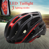 2019 New cycling LED taillights integral helmet man women for mountain bicycle racing helmet mtb road bike triathlon male helmet