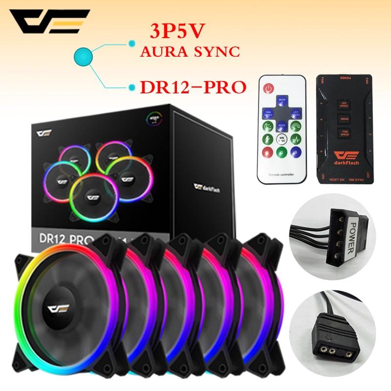 Darkflash Dr12 Pro Aura Sync Computer Case Cooling Fan Rgb