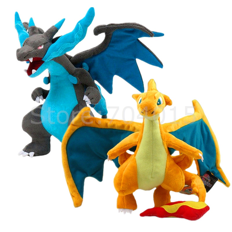 Pocket Monster Charizard Soft Plush Toy Cartoon Doll Kids Gift 9 5in