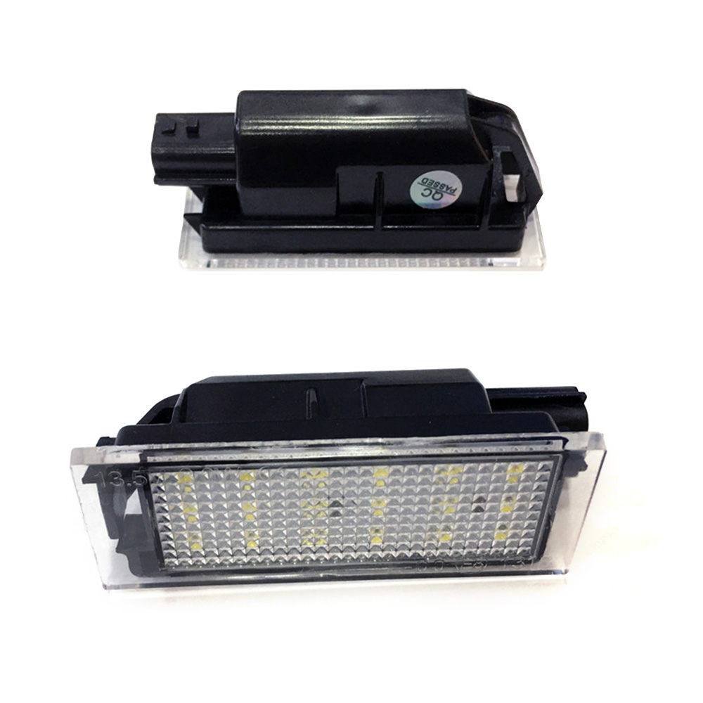 2PCS Car <font><b>LED</b></font> License Plate Light SMD 3528 for <font><b>Renault</b></font> Megane 2 Clio Laguna 2 Megane <font><b>3</b></font> Twingo <font><b>Master</b></font> Velsatis image
