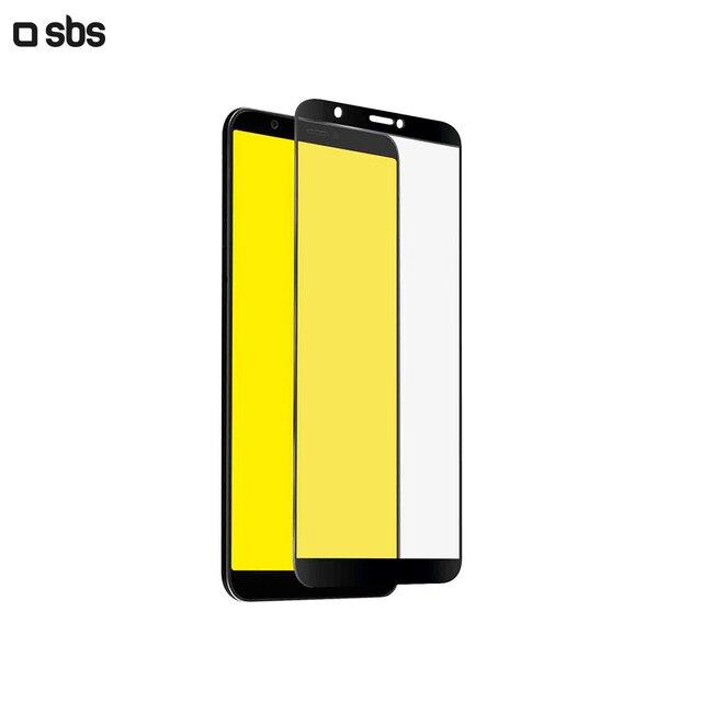 Защитное стекло 2.5D Full Screen для Huawei P Smart, черная рамка, SBS