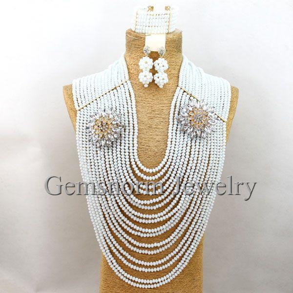 Fantastic White Crystal African Bridal Jewelry Sets Nigerian Wedding Fashion Jewelry Sets 2017 Free Shipping WB258Fantastic White Crystal African Bridal Jewelry Sets Nigerian Wedding Fashion Jewelry Sets 2017 Free Shipping WB258