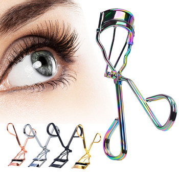 1 Piece Protable Colorful Eyelashes Curler Tweezer Curling Eye Lashes Clip Cosmetic Beauty Makeup Tool new fashion pro handle eye curling eyelashes eye lashes curler clip beauty makeup tool 3 color