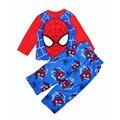 Человек-паук baby boy пижамы человек-Паук дети pijamas мультфильм Аниме детские мальчик одежда высокого качества С Длинным Рукавом детские пижамы бренд