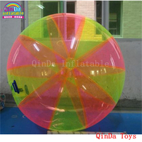 Free air pump amusement park aqua toys inflatable wasserball,colorful giant water ball for walking