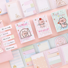 Lovely Cute Pig Party 6 Folding Memo Pad N Times Sticky Notes Memo Notepad Bookmark Gift Stationery