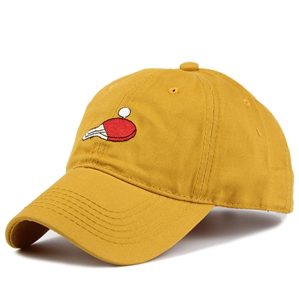 CN-RUBR Summer Ping Pong Character Baseball Caps Cotton/Acrylic Sun Hats Dad Hat Bone Masculino