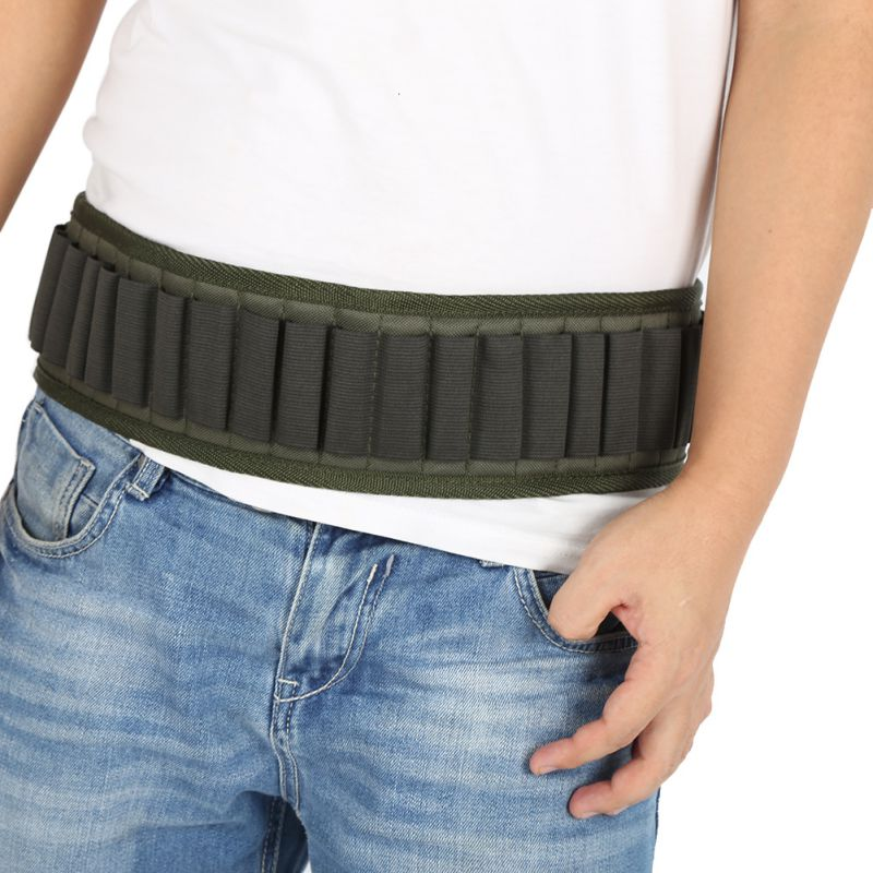140*5cm Outdoor Military Cartridge Belt Airsoft Hunting Tactical 25 Shell Bandolier Belt 12 Gauge Ammo Holder GMT601