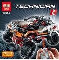 2017 Lepins Serie Técnica Última Versión de Control Remoto de Cuatro Ruedas Motrices todoterreno Vehículos Bloques Educativos juguetes 9398