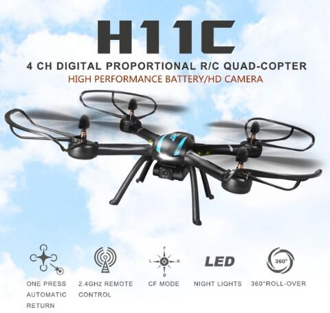 Jjrc H11c Drones With Camera Hd 1100mah Battery Hexacopter Professional Drones Dron Rc Quadcopter Flying Helicopter Copter