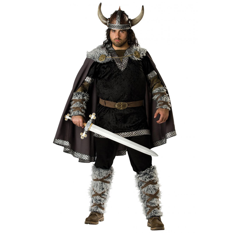 Halloween Mens Vikings Vikingar Fancy Dress Deluxe Historical Barbarian Warrior Costume