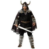 Halloween Mens Vikings Vikingar Fancy Dress Deluxe Historical Barbarian Warrior Costume