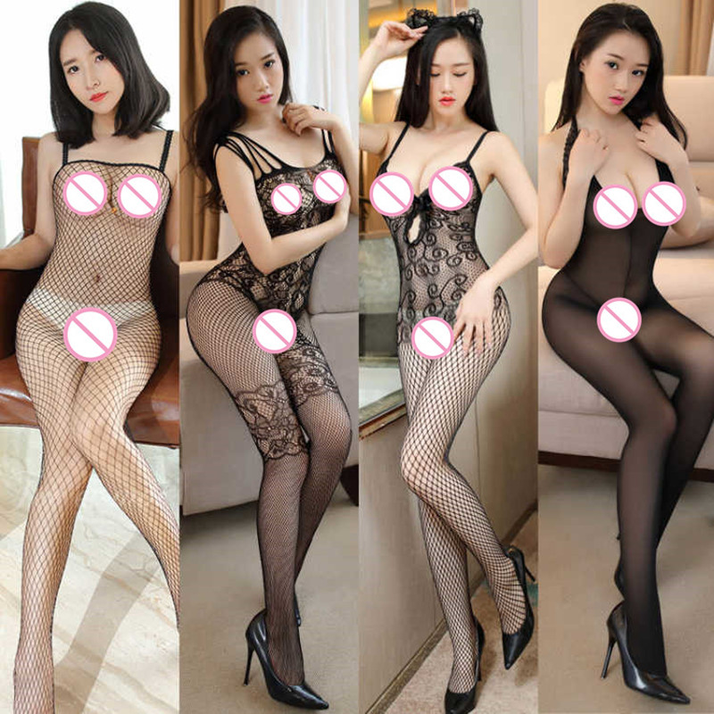 Sexy Lingerie Women's Porn Sex Lingerie Sexy Hot Erotic Costumes Open Crotch Bra Sexy Underwear Plus Size Fishnet Dress Lenceria