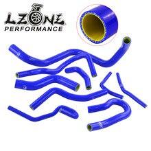 Bleu et jaune D15/16 Silicone radiateur tuyau de refroidissement kit de tuyau en Silicone avec logo PQY pour Honda CIVIC SOHC D15 D16 EG EK 92-00