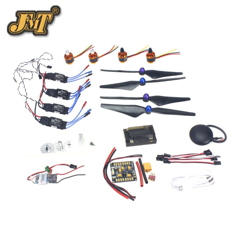 JMT GPS APM2.8 Flight Control 30A ESC BEC 920KV Brushless Motor 9450 Propeller for 4-axis DIY GPS Drone 30a esc welding plug brushless electric speed control 4v 16v voltage