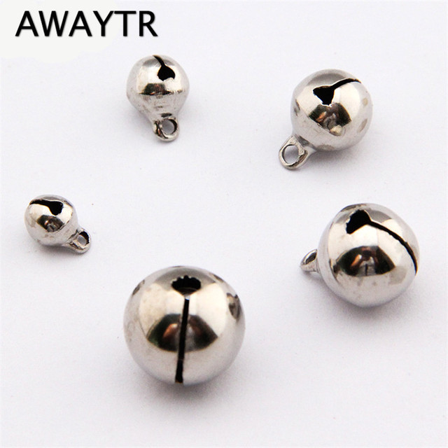 awaytr 20pcs silver jingle bells pendants hanging christmas tree