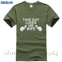 Cool Printing This Guy Loves His Wife T Shirt Men Funny Shirt Husband Gift Wedding Gift