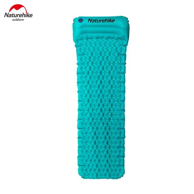 Naturehike Inflatable Mattress Moisture-proof Mattress With Pillow Air Mattress TPU Camping Mat Sleeping Pad NH17T024-T