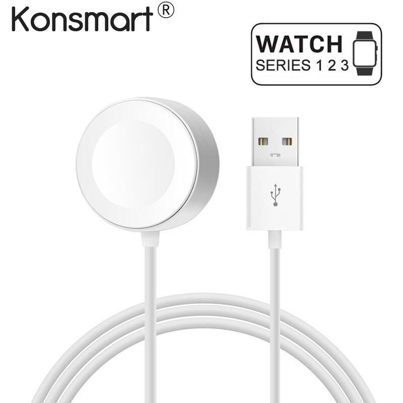 Konsmart D'origine Rapide Sans Fil câble de Recharge pour Apple Montre Chargeur Adaptateur pour Apple Montre 38 42mm Seriers 1 2 3 Cordon d'alimentation
