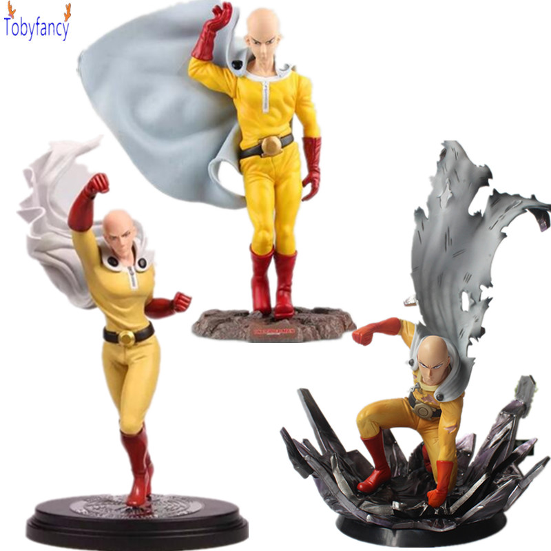 One Punch Man Saitama Sensei PVC Action Figure Anime Figurine Toy One Punch Man Collection Model Toys Figurine 3pcs lot cute one punch man figure saitama sensei figure keyring keychain kids toys model doll toy gift