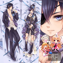 50X150CM Life-sized Black Butler Sebastian Ciel print cartoon anime wall scroll picture mural poster art cloth canvas paintings