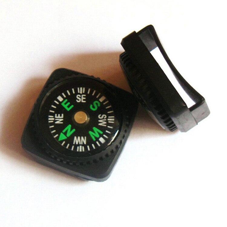 Пряжки ремня Мини Компас для Paracord браслет Открытый Отдых Пеший Туризм путешествие аварийного Survival средство навигации компас