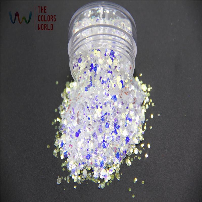tcr6321b h1 muito brilho iridescente cores branco com luz azul e ouro para a arte do