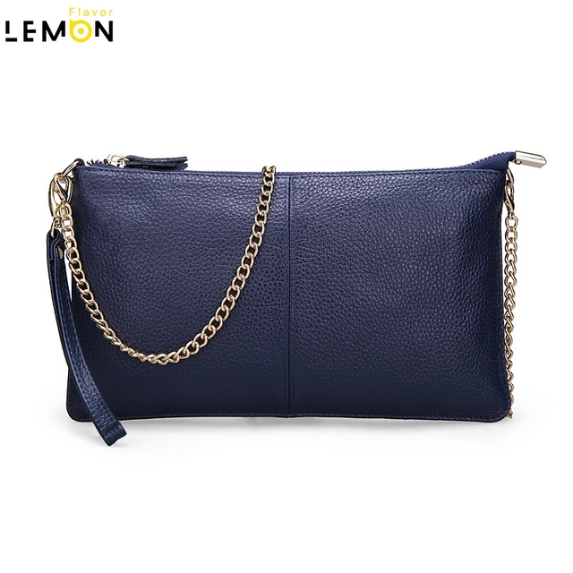 2017 Fashion New Genuine Leather Women Messenger Bags Ladies Solid Shoulder Crossbody Bag For Women Handbag Chains Clutch A1740