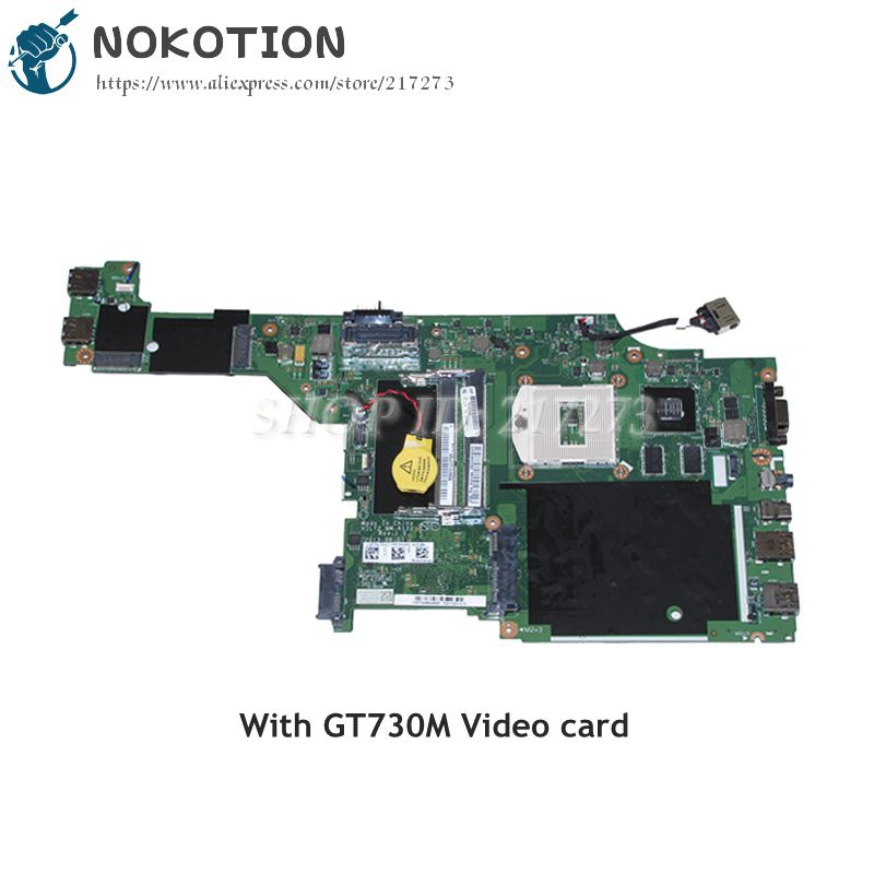 NOKOTION For Lenovo thinkpad T440p Laptop motherboard 00HM981 VILT2 NM-A131 HM87 DDR3L GT730M Video Card