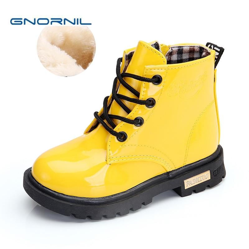 Clearance Sale Winter Children Shoes Girls Boys Martin Boots PU Leather Waterproof Fashion Kids ...