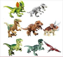 Jurassic World 2 Dinosaurs All Park World Models Building Toys Blocks Figures Tyrannosaurus Rex Bricks Toys Compatible 10 in 1 jurassic dinosaurs legoings tyrannosaurus rex movie sets models building blocks bricks toys world of park figures bkx101