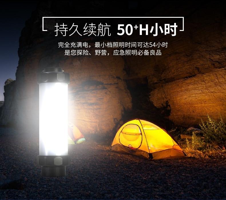 UYC Q7NN Étanche LED Lumière Extérieure Portable SOS Lumière de Secours USB Rechargeable Lampe Camping Lumière 200LM 4 Modes de Luminosité