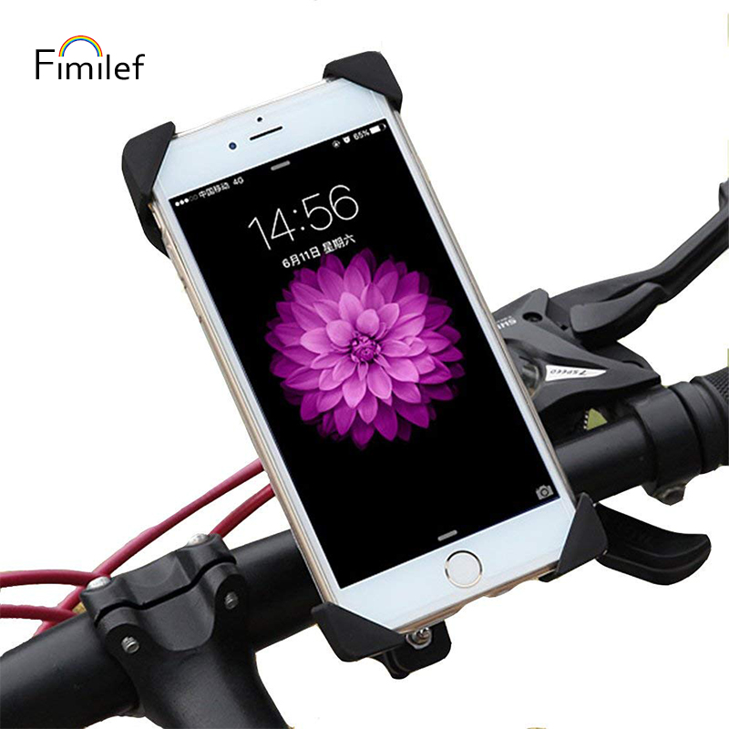 Fimilef Anti-Slip Universal Bike Mount for Phone Anti Shake Fall Prevention Bicycle Motorcycle Handlebar Clip Phone Holder Stand