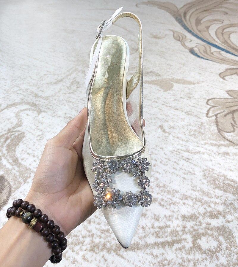 Slingback Cristal 2019 Bling As Sexy Marque Chic Pic Stiletto Designer Boucle Ete Piste Chaussures Pompes Femmes Femme UtxqR8PWw4