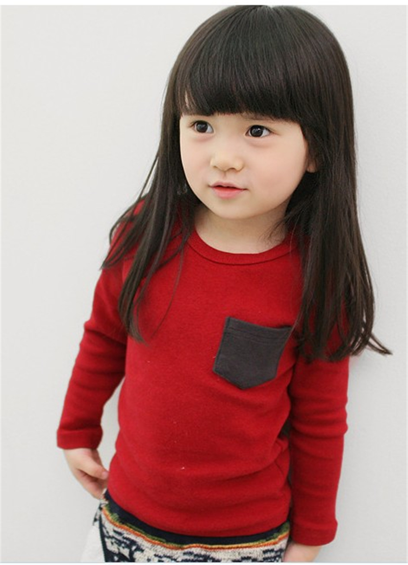Autumn Toddler Baby T-shirt For Kids Girls Long Sleeve Tee Tops Soft Solid Kids Boys Tees Candy Color Baby Girls Cotton T-Shirts 5