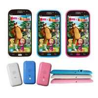 1 Pcs Baby Mobile Phone Toy Masha And Bear Russian Language Kids Children Electronic Music Cellphone