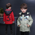 Crianças Outerwear Crianças Casaco Quente Roupas de Inverno Infantil Menino Roupas Menino Engrossar Algodão Acolchoado Jaqueta Lammy Casaco Meninos Outerwear